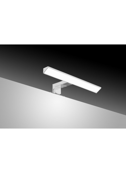 Sdz Aplique LED Delta 30 cm ABS triangular cromado luz fría